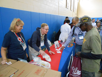 Veterans with Resource providers at Community Hope's Fifth Annual Veterans Stand Down